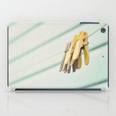 Pegs by a beach hut iPad Case