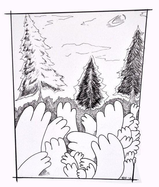 Hands in the Wild Art Print