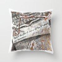 1800's Gravestone Art  S… Throw Pillow