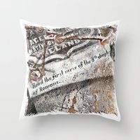 1800's Gravestone Art  S… Throw Pillow