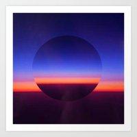 Blue Evening Art Print