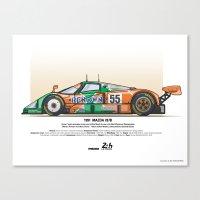 Mazda 787B - 1991 Herber… Canvas Print