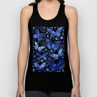 Blue Butterflies Unisex Tank Top