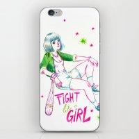 Fight Like A Girl II iPhone & iPod Skin