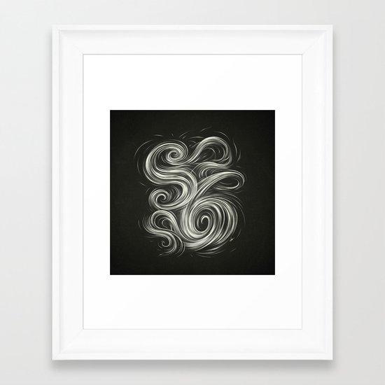 Smoke6 Framed Art Print