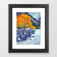 Along The Lake.. Framed Art Print