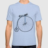 Blue Penny Farthing Mens Fitted Tee Athletic Blue SMALL