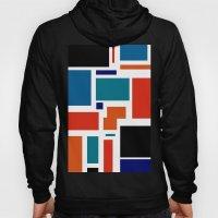 Modern Mondrian (white) Hoody