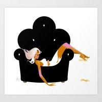 Lonesome Valentine Art Print