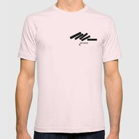 Defeated Mens Fitted Tee Light Pink SMALL