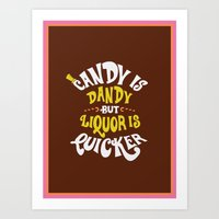 Candy Is Dandy Art Print