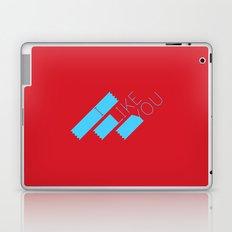 I Like You Graphik: Blue Type Laptop & iPad Skin