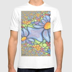 Someone stepped on the Daisies White Mens Fitted Tee SMALL