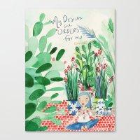 Mexican Princess thinks of Oscar Wilde Canvas Print