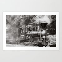 Train And Steam Art Print