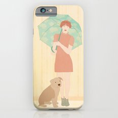 Girl and dog iPhone 6 Slim Case