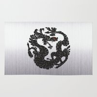 Black Oriental Dragon O… Rug