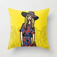 The Power Of 5. Two Throw Pillow