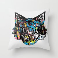 The Creative Cat (Alt. Colorway) Throw Pillow
