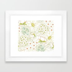 Big Blooms Framed Art Print