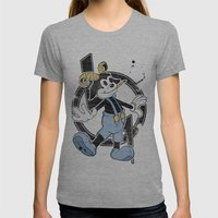 FAUNY  Womens Fitted Tee Athletic Grey SMALL