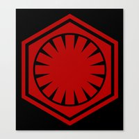The First Order In Red Canvas Print
