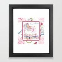 Baby Sarah sweet dreams Framed Art Print