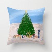 Christmas Tree And Prese… Throw Pillow