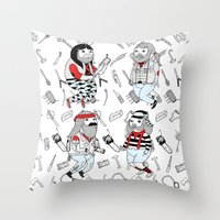 ON THE VARIATION OF TOUGHER FRIENDS I WISH I HAD Throw Pillow