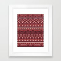 CRYSTAL AZTEC   Framed Art Print