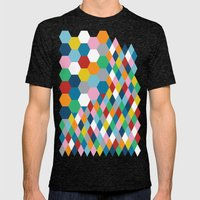 Honeycomb Mens Fitted Tee Tri-Black SMALL