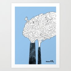 Animal Extinction Art Print