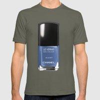 Chanel Nail Polish Blue … Mens Fitted Tee Lieutenant SMALL