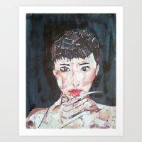 LADY DEATH STRIKE Art Print