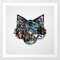 The Creative Cat (Alt. Colorway) Art Print
