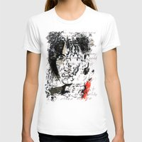 PATTI  SMITH Womens Fitted Tee White SMALL