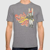 Reach For The Sky Mens Fitted Tee Tri-Grey SMALL