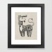 Spirit Animal: Black & W… Framed Art Print