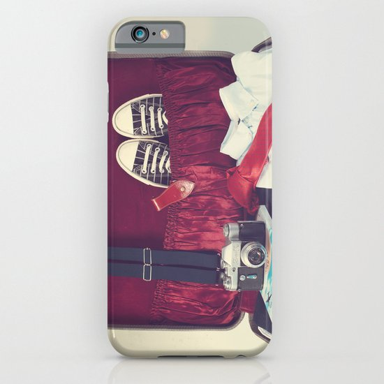 Vintage Journey Suitcase (His) (Retro and Vintage Still Life Photography) iPhone & iPod Case