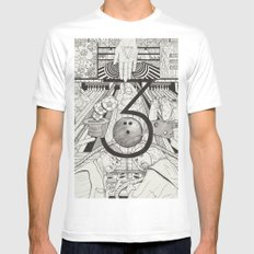 N0.3 Mens Fitted Tee White SMALL