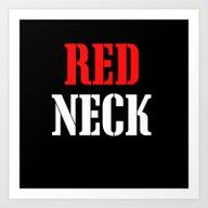 RED NECK Art Print