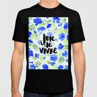 Joie De Vivre Mens Fitted Tee Black SMALL