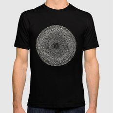 Circles SMALL Mens Fitted Tee Black