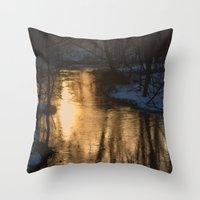 Early Morning Winter Throw Pillow