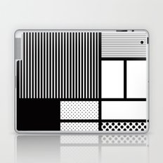 Composition With Black, Dots, Stripes & Black Laptop & iPad Skin