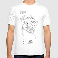 Angry Little Soymilk Mens Fitted Tee White SMALL