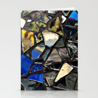 Closeup (PHOTO) of a Glass Mosaic Stationery Cards