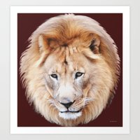 Lion Sphere Art Print