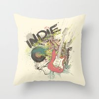 It's Indie Rock'n'Roll Throw Pillow