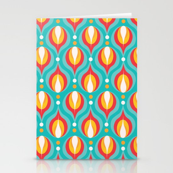Colorful Dewdrops Stationery Card